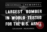 Image of Boeing Y1B-17 bomber Seattle Washington USA, 1936, second 5 stock footage video 65675053648