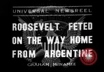 Image of Franklin Roosevelt Montevideo Uruguay, 1936, second 1 stock footage video 65675053655