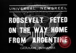 Image of Franklin Roosevelt Montevideo Uruguay, 1936, second 7 stock footage video 65675053655