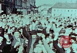 Image of German prisoners march Pilsen Czechoslovakia, 1945, second 7 stock footage video 65675055604