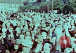 Image of German prisoners march Pilsen Czechoslovakia, 1945, second 21 stock footage video 65675055604