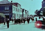 Image of German prisoners march Pilsen Czechoslovakia, 1945, second 28 stock footage video 65675055604
