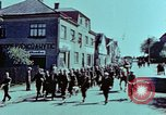 Image of German prisoners march Pilsen Czechoslovakia, 1945, second 31 stock footage video 65675055604