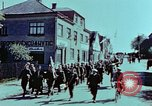 Image of German prisoners march Pilsen Czechoslovakia, 1945, second 32 stock footage video 65675055604