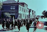 Image of German prisoners march Pilsen Czechoslovakia, 1945, second 33 stock footage video 65675055604