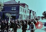 Image of German prisoners march Pilsen Czechoslovakia, 1945, second 34 stock footage video 65675055604