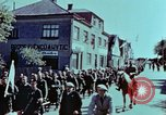 Image of German prisoners march Pilsen Czechoslovakia, 1945, second 35 stock footage video 65675055604
