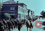 Image of German prisoners march Pilsen Czechoslovakia, 1945, second 37 stock footage video 65675055604
