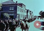 Image of German prisoners march Pilsen Czechoslovakia, 1945, second 38 stock footage video 65675055604