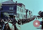 Image of German prisoners march Pilsen Czechoslovakia, 1945, second 40 stock footage video 65675055604