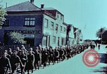 Image of German prisoners march Pilsen Czechoslovakia, 1945, second 42 stock footage video 65675055604
