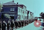 Image of German prisoners march Pilsen Czechoslovakia, 1945, second 45 stock footage video 65675055604