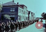 Image of German prisoners march Pilsen Czechoslovakia, 1945, second 46 stock footage video 65675055604