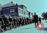 Image of German prisoners march Pilsen Czechoslovakia, 1945, second 51 stock footage video 65675055604