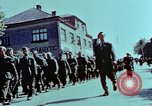 Image of German prisoners march Pilsen Czechoslovakia, 1945, second 52 stock footage video 65675055604