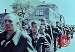 Image of German prisoners march Pilsen Czechoslovakia, 1945, second 53 stock footage video 65675055604