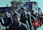 Image of German prisoners march Pilsen Czechoslovakia, 1945, second 54 stock footage video 65675055604