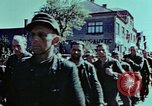 Image of German prisoners march Pilsen Czechoslovakia, 1945, second 56 stock footage video 65675055604