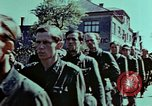 Image of German prisoners march Pilsen Czechoslovakia, 1945, second 60 stock footage video 65675055604