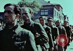 Image of German prisoners march Pilsen Czechoslovakia, 1945, second 61 stock footage video 65675055604