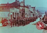 Image of German troops marching to surrender to Western Allies Pilsen Czechoslovakia, 1945, second 2 stock footage video 65675055608