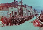 Image of German troops marching to surrender to Western Allies Pilsen Czechoslovakia, 1945, second 5 stock footage video 65675055608