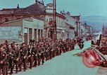 Image of German troops marching to surrender to Western Allies Pilsen Czechoslovakia, 1945, second 12 stock footage video 65675055608