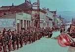 Image of German troops marching to surrender to Western Allies Pilsen Czechoslovakia, 1945, second 14 stock footage video 65675055608