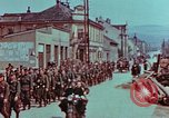 Image of German troops marching to surrender to Western Allies Pilsen Czechoslovakia, 1945, second 17 stock footage video 65675055608