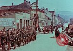 Image of German troops marching to surrender to Western Allies Pilsen Czechoslovakia, 1945, second 28 stock footage video 65675055608