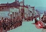 Image of German troops marching to surrender to Western Allies Pilsen Czechoslovakia, 1945, second 29 stock footage video 65675055608