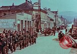 Image of German troops marching to surrender to Western Allies Pilsen Czechoslovakia, 1945, second 30 stock footage video 65675055608