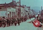 Image of German troops marching to surrender to Western Allies Pilsen Czechoslovakia, 1945, second 55 stock footage video 65675055608