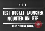 Image of test rocket launcher Alsace France, 1944, second 1 stock footage video 65675057851