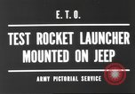 Image of test rocket launcher Alsace France, 1944, second 6 stock footage video 65675057851