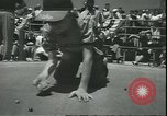 Image of marble game Asbury Park New Jersey USA, 1950, second 16 stock footage video 65675058227
