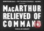 Image of General MacArthur United States USA, 1951, second 12 stock footage video 65675058719