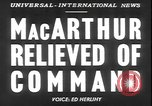 Image of General MacArthur United States USA, 1951, second 13 stock footage video 65675058719