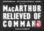 Image of General MacArthur United States USA, 1951, second 15 stock footage video 65675058719