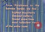 Image of Burma Road China, 1941, second 20 stock footage video 65675060841