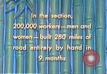 Image of Burma Road China, 1941, second 57 stock footage video 65675060841