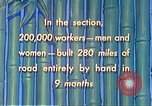 Image of Burma Road China, 1941, second 62 stock footage video 65675060841