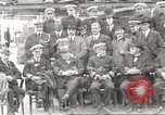 Image of Civilian businessmen and officials pose with Naval officers aboard ship Virginia United States USA, 1925, second 18 stock footage video 65675060899