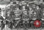 Image of Civilian businessmen and officials pose with Naval officers aboard ship Virginia United States USA, 1925, second 19 stock footage video 65675060899