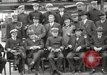 Image of Civilian businessmen and officials pose with Naval officers aboard ship Virginia United States USA, 1925, second 20 stock footage video 65675060899