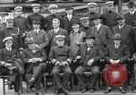 Image of Civilian businessmen and officials pose with Naval officers aboard ship Virginia United States USA, 1925, second 21 stock footage video 65675060899
