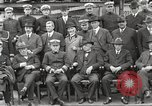 Image of Civilian businessmen and officials pose with Naval officers aboard ship Virginia United States USA, 1925, second 22 stock footage video 65675060899