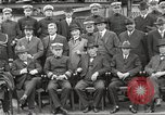 Image of Civilian businessmen and officials pose with Naval officers aboard ship Virginia United States USA, 1925, second 23 stock footage video 65675060899