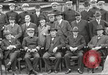 Image of Civilian businessmen and officials pose with Naval officers aboard ship Virginia United States USA, 1925, second 24 stock footage video 65675060899