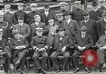 Image of Civilian businessmen and officials pose with Naval officers aboard ship Virginia United States USA, 1925, second 26 stock footage video 65675060899